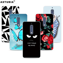 Phone Cases For Nokia 5 nokia heart TA-1008 TA-1030 Case Brand Fashion Soft TPU Plastic Silicone Cover For Nokia 5 Original(China)