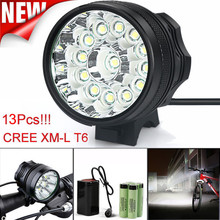 MUQGEW Super Bright 32000LM 13 x CREE XM-L T6 LED 6 x 18650 Bicycle Cycling Light Waterproof Lamp High Quality 2017  Promotion