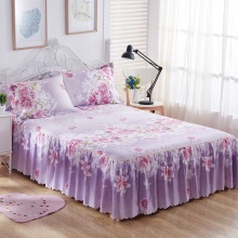 3PCS Bedding Sets King Queen Bed skirt Sheet set Flowers linens Bed Mattress Cover Bedspread Bedding,1 Bed Skirt 2 Pillowcase
