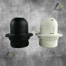 Free shipping plastic lamp sockets white or black lamp base E27 fitting phenolic lampholder with or without shade holders