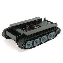 2017 High Quality DIY Smart Robot Car Smart Germany Tank Track Rubber Chassis For Arduino Boys Childrens Toys Gift