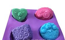 Korean soap mold Rose Daisy heart-shaped coins pig die Soap mold Hand-made cake