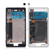for Sony Xperia M4 Aqua E2303 Single Card Middle Frame Bezel LCD Housing Mid Faceplate Signal Antenna Mainboard Flex Cable