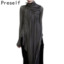 Preself Gothic Wrap Dress Design Zipper Special  Dresses Women Stylish High Puality Black Plus Size  Vestidos New 2017