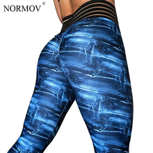 Buy NORMOV Casual Digital Printed Leggings Women Push High Waist Legging Femme Stretch Elastic Workout Classic Trousers Female for $10.93 in AliExpress store