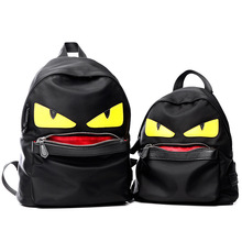 The New Trend of Nylon Backpacks, Big Eyes Small Monster Shoulder bag, Schoolbag Female, Male Chest Pack