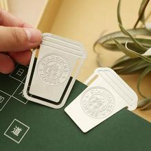 Creative Starbucks Cup Hollow Out Mini Bookmark Paper Clip School Office Supply Escolar Papelaria Gift Stationery(China)