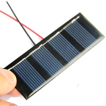 Wholesale 100PCS/Lot Polycrystalline Solar Panel 0.2W 2V Min Solar Cell+15CM Cable Education Kits 78.8*28.3MM Free Shipping