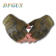 US Army Tactical Gloves Outdoor Sports Half finger Combat Glove Motocycle Slip-resistant Carbon Fiber Mittens Wholesale