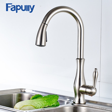 Fapully Thermostatic kitchen Faucet Pull Out Deck Mounted Kitchen Faucet Mixer Cold and Hot Deck Mounted Faucets 207-33N(China)
