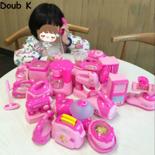 Doub k furniture toy Baby Simulation mini life small household appliances kawaii pretend play toys for children girls gifts