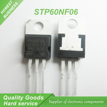 10PCS free shipping P60NF06 STP60NF06 MOSFET N field effect tube 60V 60A  TO-220 100% new original