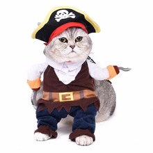 Pirate Pet Cat Costumes Clothes for Cat Dog Cartoon Performance Clothes for Fun Cute Costumes for Cat(China)