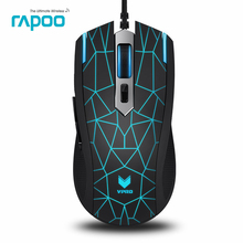Original Rapoo V13 6 Buttons USB Wired LED Backlight Optical Gaming Mouse for Laptop Computer Dota2 LOL Bloody Fare deathadder