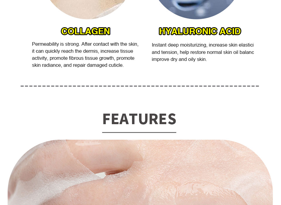 HEMEIEL 3PCS Hyaluronic Acid Face Mask Moisturizing Collagen Korean Mask Sheet Acne Treatment Mask Facial Skin Care Cosmetics 15