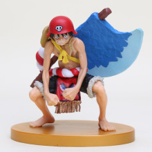 13cm One Piece Anime Monkey D Luffy Axe Ver. PVC Action Figure Collection Model Doll Toy Gift