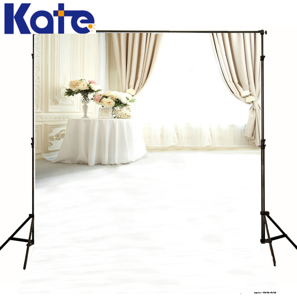 White Wall Flower Green Photography Background Curtain Window Table Children Photo Background Photo Studio Backdrop<br><br>Aliexpress