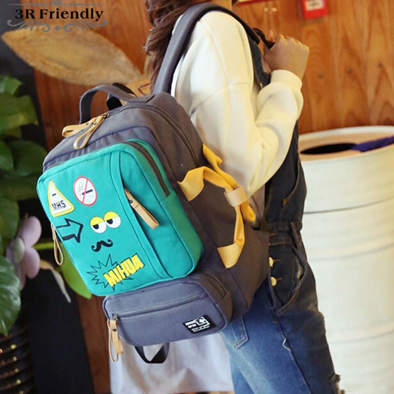 2016 New Style fashion casual  double-shoulder travel backpack  middle/high /university student school bags for teenagers<br><br>Aliexpress