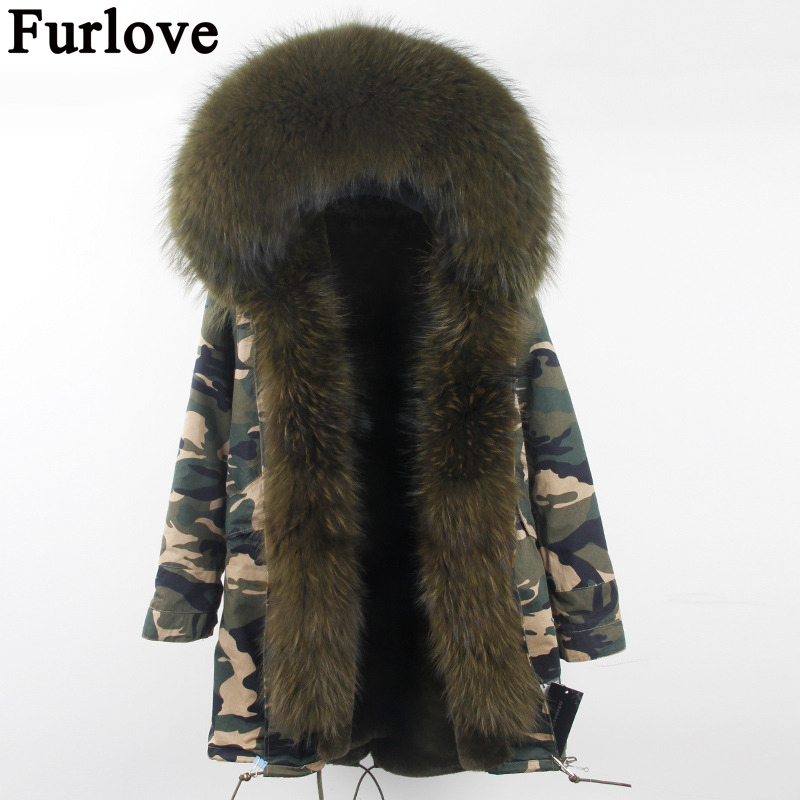 Women Winter Parka fur hood winter jacket women parkas natural real fur coat for women thick soft lining abrigos de piel mujerÎäåæäà è àêñåññóàðû<br><br>