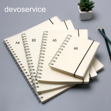 B5/A5/A6 PP Scrub Transparent Coil Notebooks office & School Supplies Simple Cute Style Line/Grid/Dot/Blank Spiral Notepad