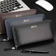 Men Wallets Top Quality Male Clutch Big wallet men's clutch Capacity Cellphone Bag pu Leather Zipper Pocket Card