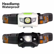 New 800 Lumens Led Headlight 4 Modes 2 Red LED+1 White LED Mini Protable Light Waterproof Lantern For Hunting by 3*AAA Battery