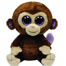Ty Beanie Boos Monkey Plush Toy Doll Baby Girl Birthday Gift 15cm Big Eyes Stuffed Animal Doll