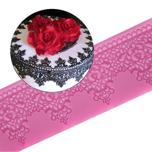 Sugarcraft silicone lace mat silicone mold fondant silicone cake border decorating mold cake decorating tools  free shipping