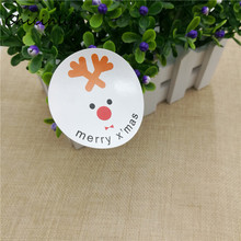 Chicinlife 80pcs/lot thank you elk Merry X'mas Sealing Sticker Christmas Party Decoration Self Adhesive Tag Gift Box decor