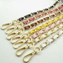 11 PU Leather Colors! Colorful 120cm Replacement Shoulder Straps for Bags, Handbags, Purses 11mm Metal Gold Chain Strap Handles
