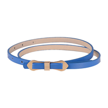 Royal Blue Cute Slender Candy Color Bowknot Layered Waist Slender Belt For Women 102*1cm(China)