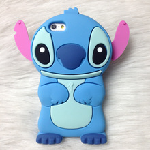New style 3D Cartoon Stitch soft silicon cute cover back phone case For Iphone 4 4S 5 5S SE 6 6S / Plus Lovely TPU Shell Cases