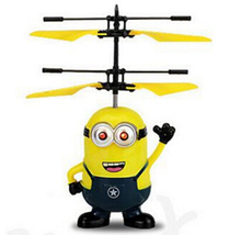 Sale Time !! Top Sale ! Very Funny Induction Flying Toys Upgrade RC Despicable Me Minion Helicopter Quadcopter Drone Plane Toys