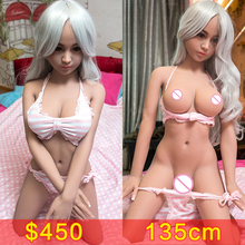 135cm Silicone Sex Doll Metal Skeleton 135cm Lifelike Full Size Japanese Adult Sex Love Dolls Oral Vagina Anal Real Doll for Men(China)