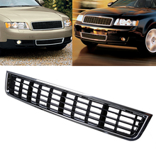 ABS Black Car Styling Auto Parts Front Middle Grill Grille Fit For Audi A4 B6 2002-2005 High Quality Racing Car Grills