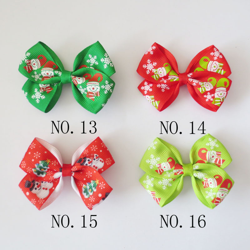 "200 BLESSING Girl 2.5/"" Colorful ABC Halloween Christmas Hairbow Clip Accessories"