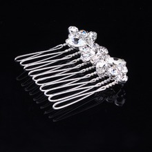 New style simple crystals floral design bridal hair comb fashion wedding ornament jewelry accesories 3pcs lot