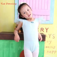 Discount 2-15Y Girl Ballet Leotard Cotton Gymnastics Leotard Solid Unitard Ballet Dance Leotard Children Ballet Clothes For Sale