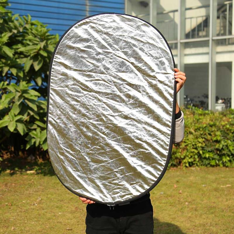 5 in 1 Oval Photography Light Reflector Foldable Photo Studio Supplies 4
