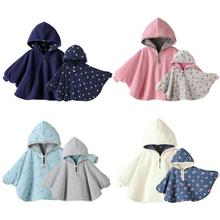 Fashion Baby Coats Boys Girls Clothes Smocks Outwear Fleece Cloak Mantle Children's Clothing Poncho Shawl Cape Amice Wrap Tippet
