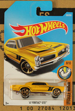 New Arrivals 2018 8a Hot Wheels 1:64 golden 67th pontiac gto Car Models Collection Kids Toys Vehicle For Children hot cars(China)