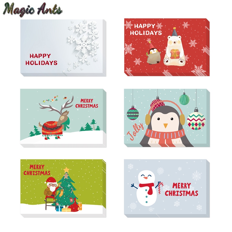 Aliexpress.com : Buy 6pcs Thank You Christmas Card with Envelope ...