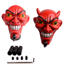 Car Shifter Red Monster Auto Gear Stick Head Angle Red Devil Automatic Skull Gear Shift Knob Devil Head Knob Car Styling Shifter