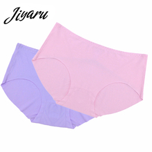 Buy Summer Underwear Women Panties Ultra-thin Woman Seamless Traceless Sexy Briefs Solid Color Cotton Female Knickers