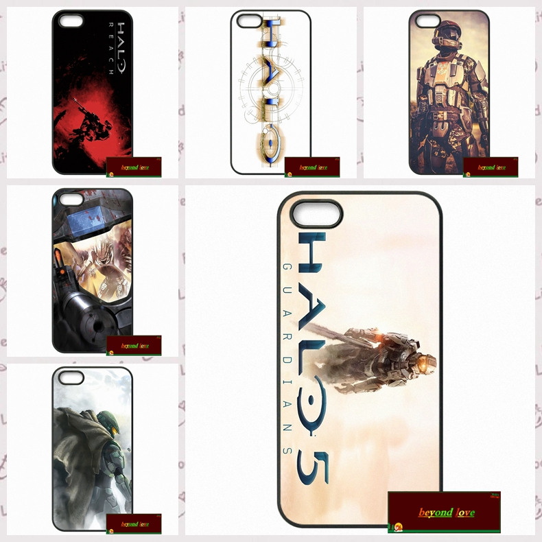 Top brand Halo 5 GUARDIANS Logo Cover case for iphone 4 4s 5 5s 5c 6 6s plus samsung galaxy S3 S4 mini S5 S6 Note 2 3 4  DE0238