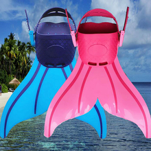 New arrival 1 piece kids swimming fins and flippers mermaid swimming fins monofins hotsale great mermaid tail fins for girls