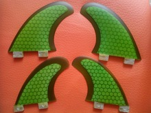 3 color Glassfiber Honeycomb FCS surf fin Quad Set Fins (2 piece G5, 2 Piece GL) for SUP, surfboard, paddle board