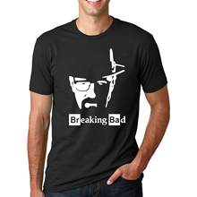 Euro Size Breaking Bad Heisenberg Letter Printed T Shirts Men's 2017 Summer Fashion Hip-Hop Short Sleeve O-Neck Streetwear Tees