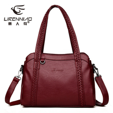 Buy Brand Knitting Leather Handbag Luxury Designer Handbags High Bag Women 2018 Fashion Women Shoulder Bags Tote Bag Ladies for $26.05 in AliExpress store