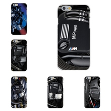 For Apple iPhone 4 4S 5 5C SE 6 6S 7 7S Plus 4.7 5.5 Soft TPU Silicon Pattern Phone BMW M Power M3 M4 M5 engine